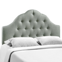 Sovereign Queen Fabric Headboard in Gray