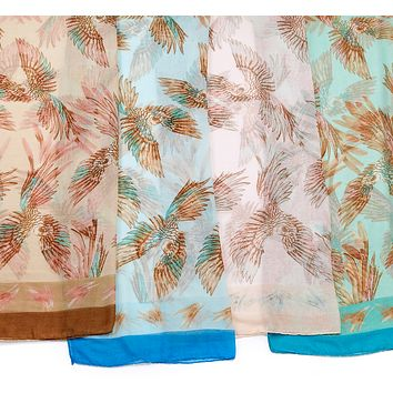 Tropical Parrot Scarf