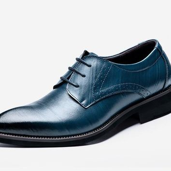 NEW Men's Classic Genuine Leather Oxford Dress Shoes In Two Styles