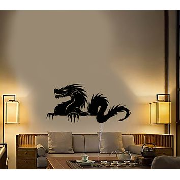 Vinyl Wall Decal Asian Dragon Silhouette Fantastic Beast Stickers (3783ig)