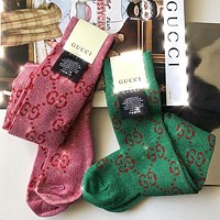 Gucci Woman Cotton Knitwear Socks Stockings
