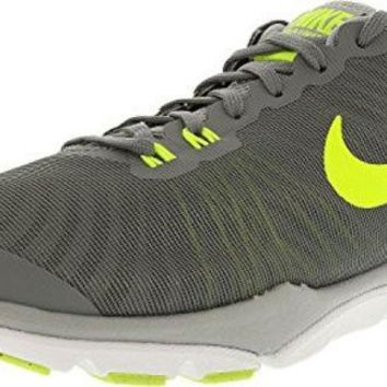 DCCK8BW Nike Women's Flex Supreme Tr 4 Cool Grey/Volt-Wolf Grey-Pure Platinum Ankle-High Cross Trainer Shoe - 8W