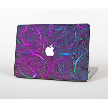 The Purple and Blue Electric Swirels Skin Set for the Apple MacBook Pro 15""