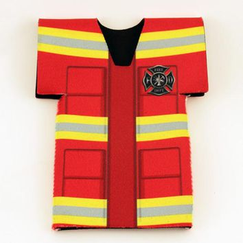 Firefighter Jersey Bottle Coozie