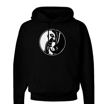 TooLoud Yin Yang Chicken Dark Hoodie Sweatshirt