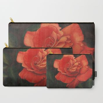 Rose flower Carry-All Pouch by Savousepate