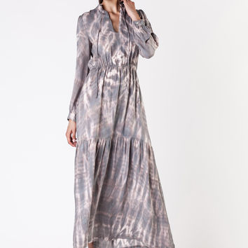 Raquel Allegra  -  Smoke Topaz Maxi Dress