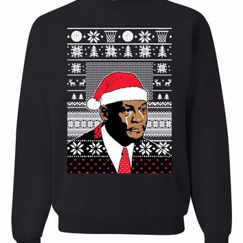 Crying jordan face Ugly Christmas Sweater Unisex Sweatshirt