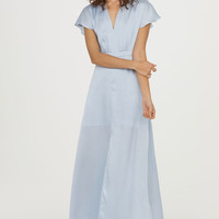 Long Satin Dress - from H&M