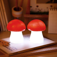 Red LED Mushroom Lamp