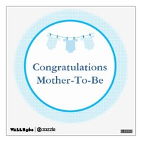 Personalized Baby Shower Wall Decal Boy Oh Boy!