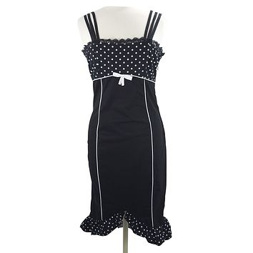 Rockabilly Pin-up Polka Dot Corset lace up back Pencil Dress
