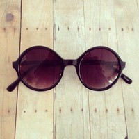 Round black sunglasses from GypsyRoom