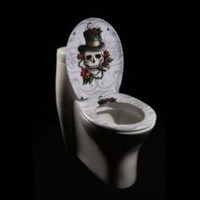 Skull & Roses Toilet Seat- Oxford Creek-Bed & Bath-Bath Essentials-Toilet Seats
