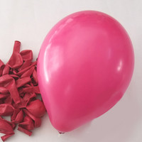 Latex Balloons Party Supplies, 12-inch, 12-piece, Fuchsia