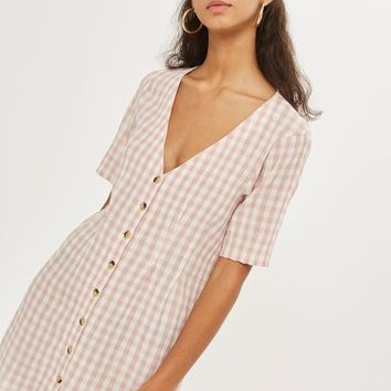Gingham Mini Dress - Dresses - Clothing
