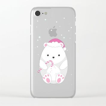 Polar bear Clear iPhone Case by eDrawings38