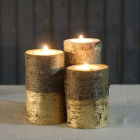 Gold Dipped Candle Holder