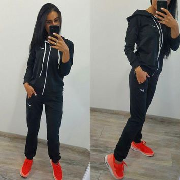 Nike £ºfashion Long Sleeve Sweater Set Two Piece Sportswear