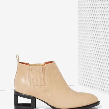 Jeffrey Campbell Metcalf Block Boot - Beige Leather