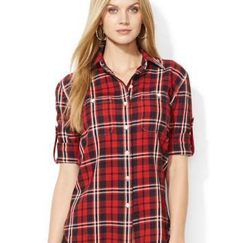 Lauren Ralph Lauren Plaid Button-Down Shirt