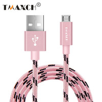 Nylon Micro USB Cable For Samsung HTC Huawei Fast Charger Data Cable Cord For Xiaomi Android Mobile Phone Cables 0.5M 1M 2M Wire