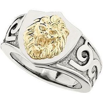 Stainless Steel Lions Head Ring