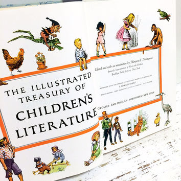 Illustrated Treasury of Childrens Literature, Nursery Rhymes, Fairy Tale Book, Classic Childrens Book, Margaret Martignoni, Vintage Nursery