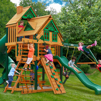Gorilla Playsets Great Skye I Treehouse Wooden Swing Set