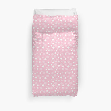 Seamless Dots, Spots (Dotted Pattern) - Pink White