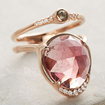 Sun & Moon Tourmaline Ring
