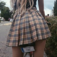 Assorted High Waisted Plaid Skirts