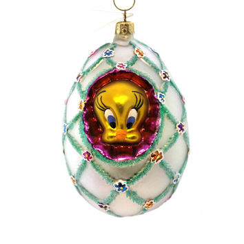 Christopher Radko Faberge Tweety Easter & Spring Glass Ornament