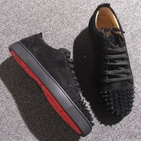Christian Louboutin CL Low Style #2075 Sneakers Fashion Shoes Best Deal Online