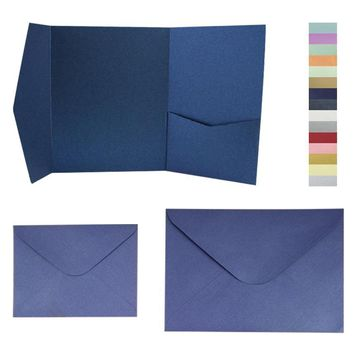 Many colors 25pcs/lot signature pocket envelop with matching envelop set free shipping