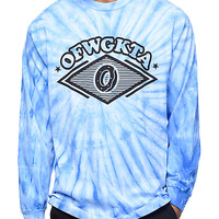Odd Future Diamond Logo Blue Tie Dye Long Sleeve T-Shirt