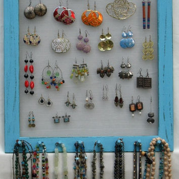 JEWELRY DISPLAY ORGANIZER turquoise Shabby Chic