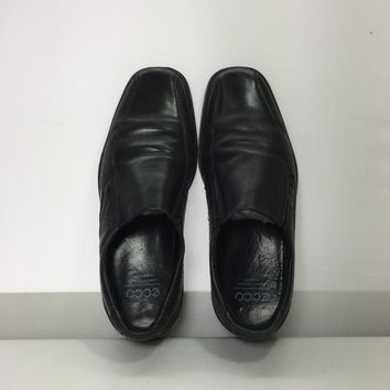 Preowned Ecco Men's Black Jersey Loafer, Size 7