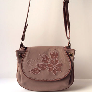 Leather Crossbody Bag Light Brown Original and Stylish Woman Bag, Mothers Day Gift Idea