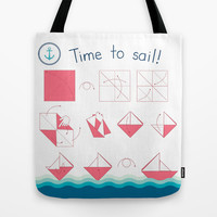 Time to sail! Tote Bag by Alessandro Aru