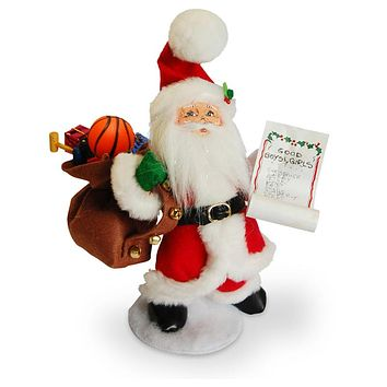 Annalee Dolls 2016 Christmas 9in Flight Time Santa Plush New with Tags