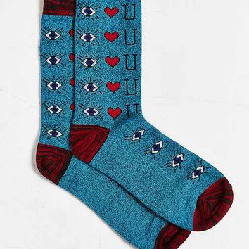 Eye Heart U Sock- Sky One