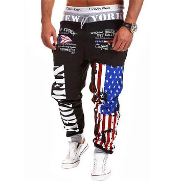 Men Long pants Cotton Men's gasp workout fitness Pants casual sweatpants jogger pants skinny trousers