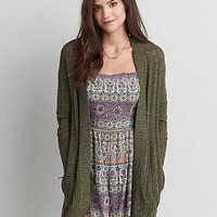 AEO Open Pocket Cardigan , Olive