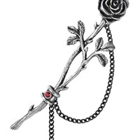 """""""Chained Love Rose"""" Ear Wrap by Alchemy of England (Pewter)"""