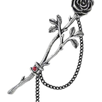 """Chained Love Rose"" Ear Wrap by Alchemy of England (Pewter)"