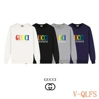 HCXX 19Aug 440 Gucci Color Printed Logo Round Neck Sweater