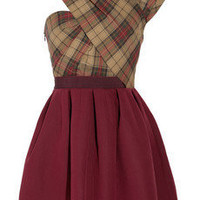 Carven|Asymmetric twill tartan dress |NET-A-PORTER.COM