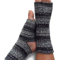 Yoga Socks Hand Knit in Shades of Grey Pedicure Pilates Dance