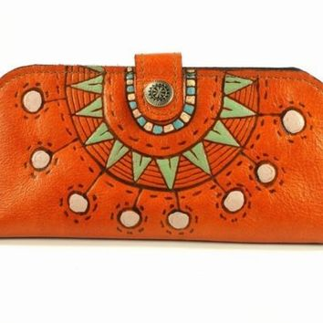 Wallet Leather Sunny Orange by rntn on Etsy